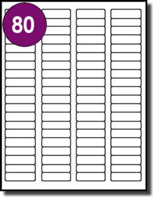 Inkjet  Laser Labels A4 80 Labels Per Sheet Box 100s