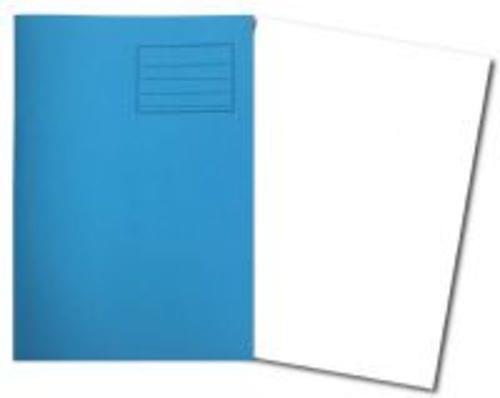 Exercise Books A4+ 320mm x 240mm 48 Pages Plain Light Blue