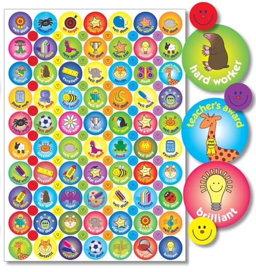 A4 Compilation Stickers 24mm x 10mm Assorted Pack 992 55917