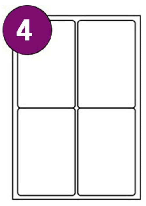 Inkjet  Laser Labels A4 4 Labels Per Sheet Box 100s