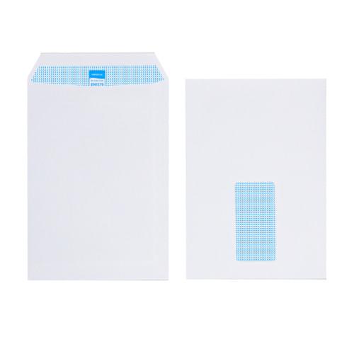 Initiative White Envelopes C5 229mm x 162mm Self Seal Window 90gsm Box 500s