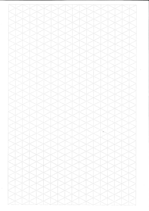 Maths Paper A4 Isometric Grid Pack 100s 415-075-004