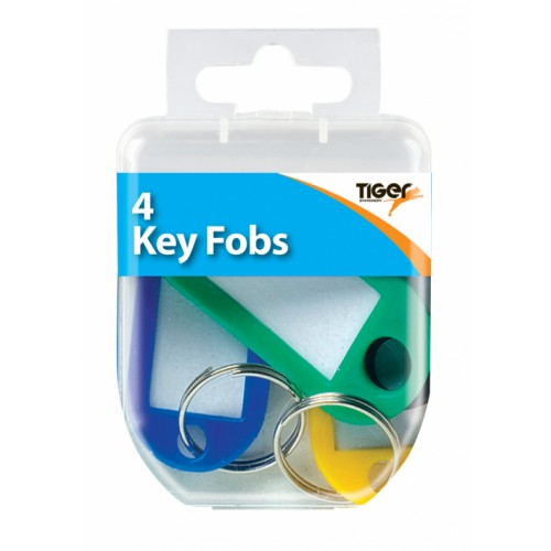 Tiger Key Fobs Assorted Colours