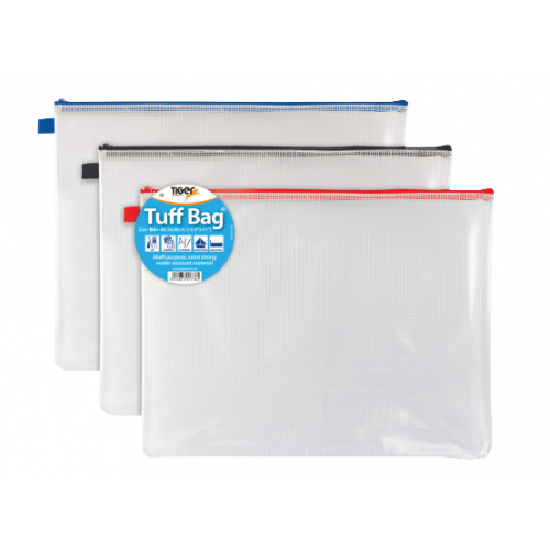 Tiger Stationery Tuff Bags B4+ Assorted Colours