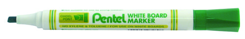 Pentel Everyday WhiteBOARD Markers Chisel Tip Green