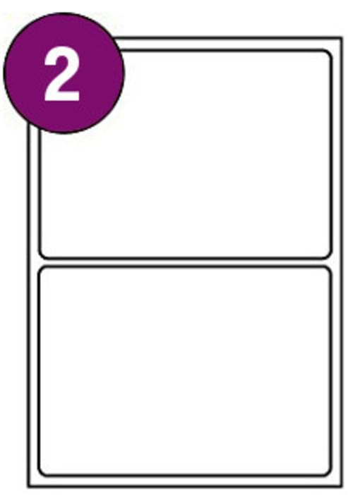 Inkjet  Laser Labels A4 2 Labels Per Sheet Box 100s