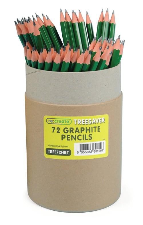 Recreate Recycled Blacklead Pecils HB Tub