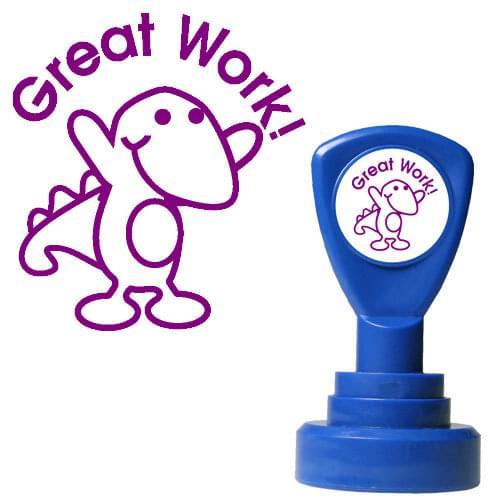 Classmates Motviational Stamp Great Work Dinosaur