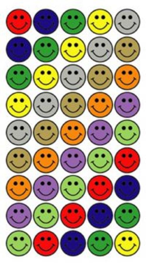 Purple Peach Laser Labels Smiley Faces