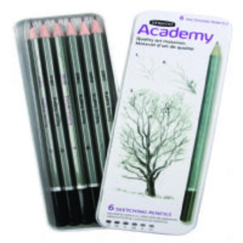 Derwent Academy Sketching Pencils Tin 6s