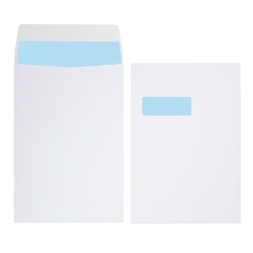 Initiative White Gusset Envelopes C4 324mm x 229mm x 25mm Window 140gsm Box 125s