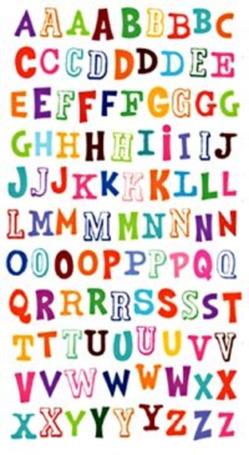 Purple Peach Laser Labels Alphabet Letters