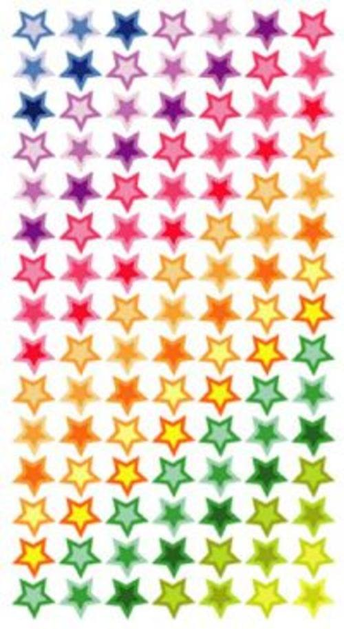 Purple Peach Laser Labels Little Stars