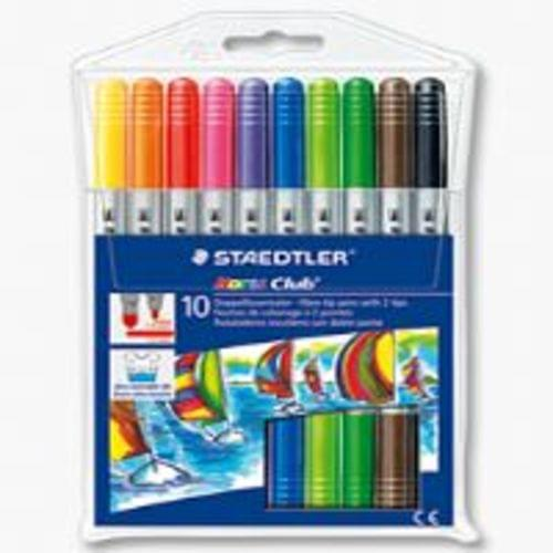 Staedtler Twin Ended Fibre Tipped Pen Assorted 10s