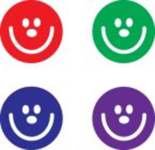 Small Round Stamper Set Smiley Faces Assorted Colours Pack 4s