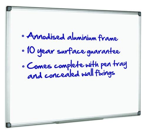 Initiative Magnetic Drywipe Board 900mm x 600mm  3 x 2