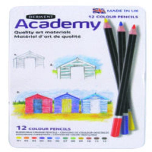 Derwent Academy Colouring Pencils Assorted 12s