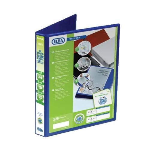 Panorama Presentation Binders A4 2 Ring 25mm Capacity Blue