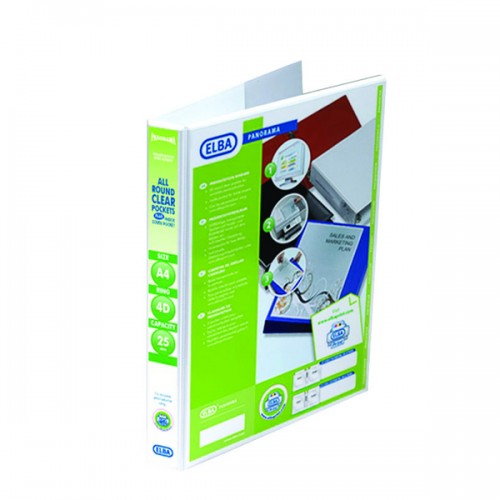 Panorama Presentation Binders A4 2 Ring 25mm Capacity White
