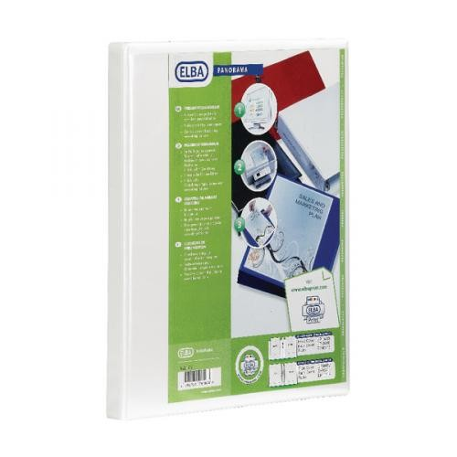 Panorama Presentation Binders A4 2 Ring 40mm Capacity White
