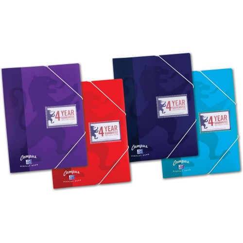 Campus Display Books A4 20 Pocket Assorted