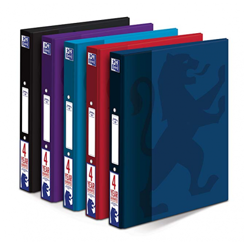 OXFORD CAMPUS A4+ 25MM 2 O-RING PAPER ON BOARD RING BINDER ASSORTED