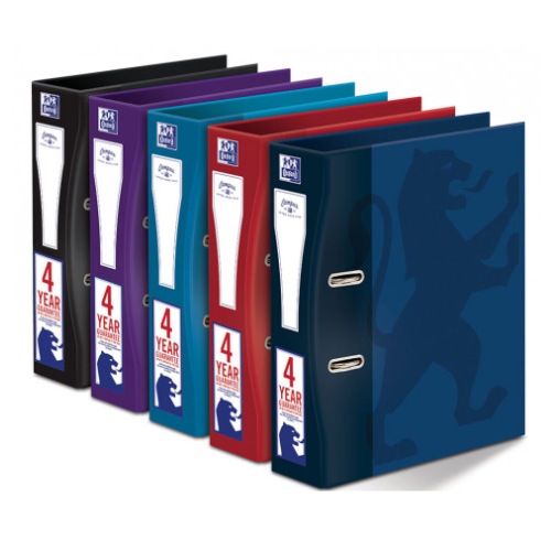 OXFORD CAMPUS A4+ 63MM PAPER ON BOARD LEVER ARCH FILE ASSORTED