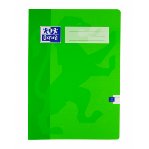 Oxford Exercise Books 220mm x 170mm 48 Pages 5mm Squares Green