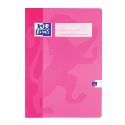 Oxford Exercise Books A4 48 Pages 5mm Squares Pink