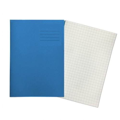 LIGHT BLUE Exercise Books A4+ 80 Pages 10mm Squares