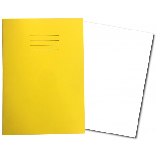 Exercise Books A4+ 320mm x 240mm 48 Pages Plain Yellow