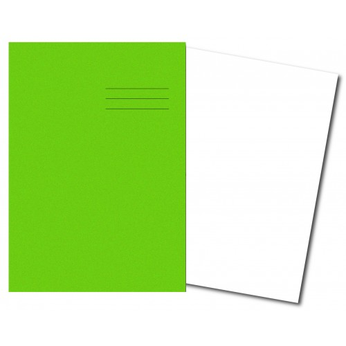 Exercise Books A4+ 320mm x 240mm 80 Pages Plain Light Green