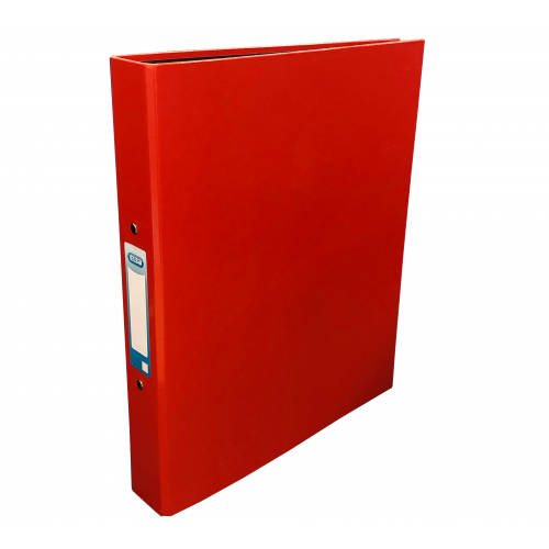 Elba Laminated Ring Binder A4, 40mm Spine, Red