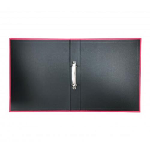 Elba Laminated Ring Binder A4, 40mm Spine, Pink