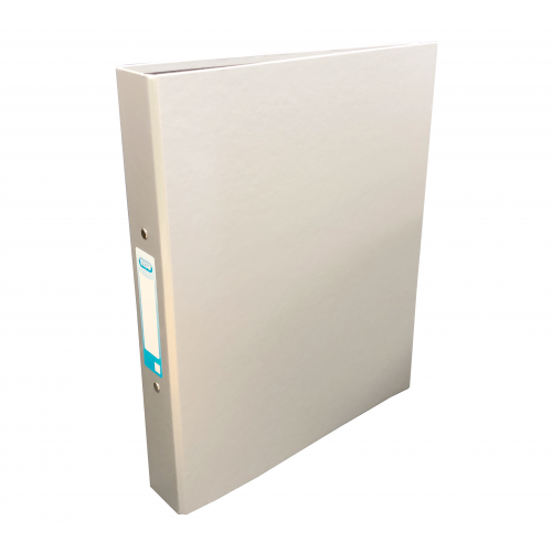 Elba Laminated Ring Binder A4, 40mm Spine, Silver