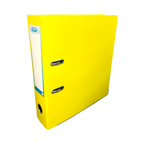 Elba Laminated Lever Arch, 70mm Spine, Yellow