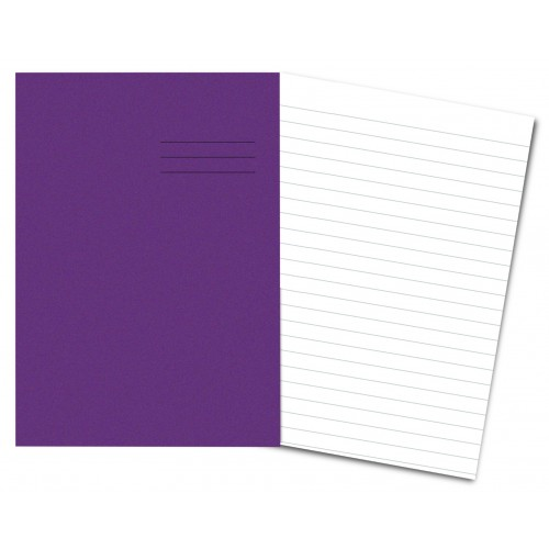 PURPLE Exercise Books A4+ 80 Pages 12mm Ruling