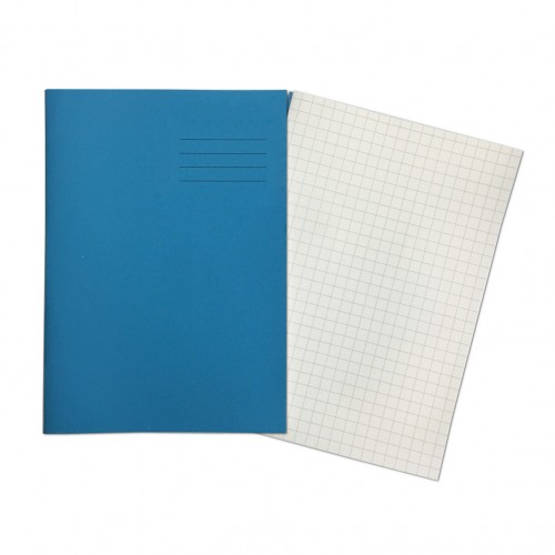 LIGHT BLUE Exercise Books A4+ 80 Pages 7mm Squares