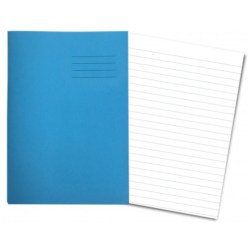 LIGHT BLUE Exercise Books A4+ 80 Pages 15mm Ruling