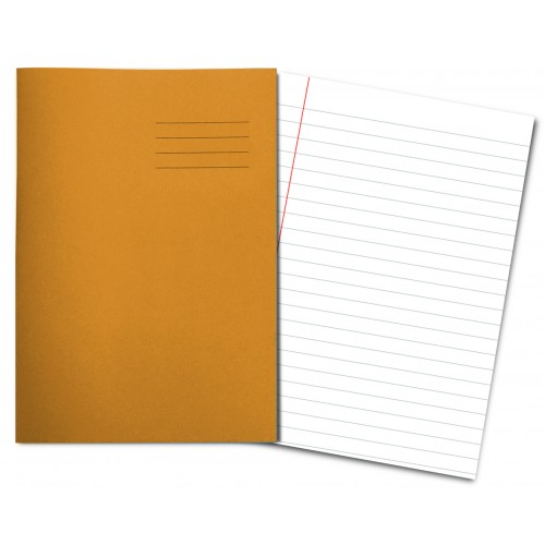 ORANGE Exercise Books A4+ 80 Pages 8mm Feint & Margin
