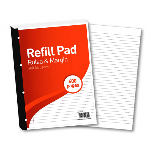 FBO Refill Pad A4 400 Pages 8mm Feint & Margin