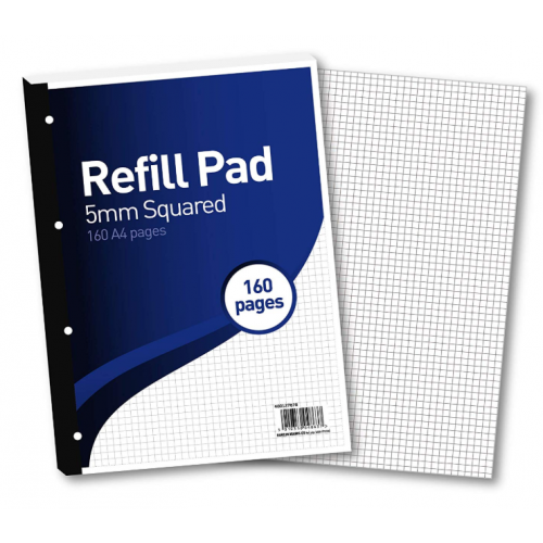 FBO Refill Pad A4 160 Pages 5mm Squares