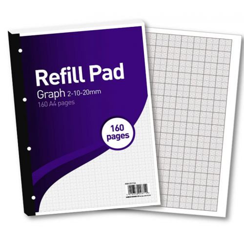 FBO Refill Pad A4 160 Pages Graph 2/10/20mm