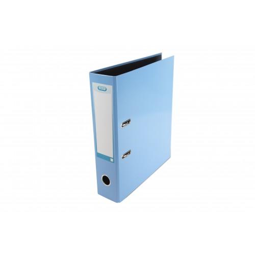 Elba Laminated Lever, Arch 70mm Spine, Light Blue