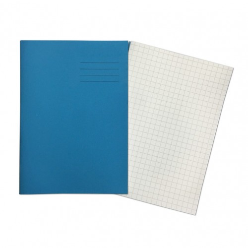 A4+ LIGHT BLUE 10mm Squared 48 Page Exercise Book