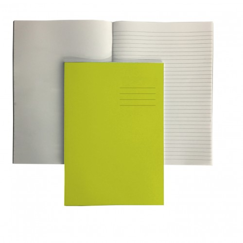 A4+ YELLOW 12mm ruled and margin/PLAIN ALT 48 Page Exercise Book