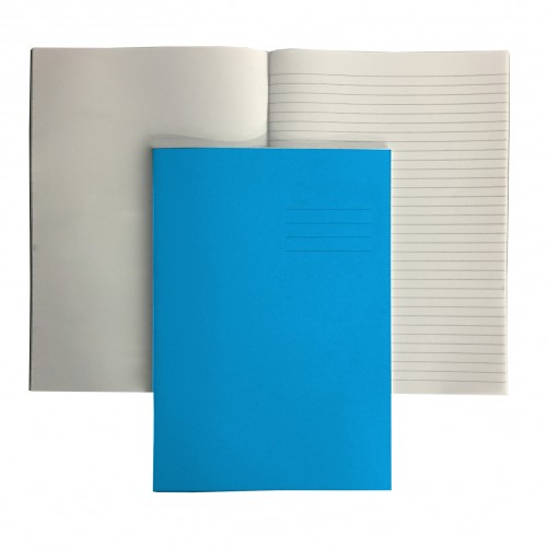A4+ LIGHT BLUE 12mm ruled and margin/PLAIN ALT 48 Page Exercise Book
