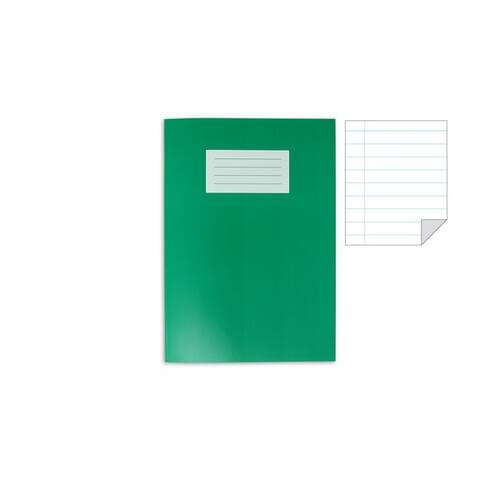 Oxford Laminated Exercise Book  A4 8mm ruled and margin 80 Page Dark Green