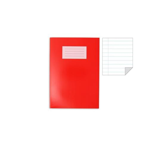 Oxford Laminated Exercise Book  A4 8mm ruled and margin 80 Page Red