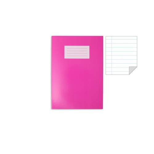 Oxford Laminated Exercise Book  A4 8mm ruled and margin 80 Page Pink